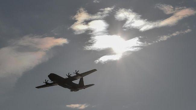 Pesawat TNI  AU dapat membawa muatan bahan semai/Net