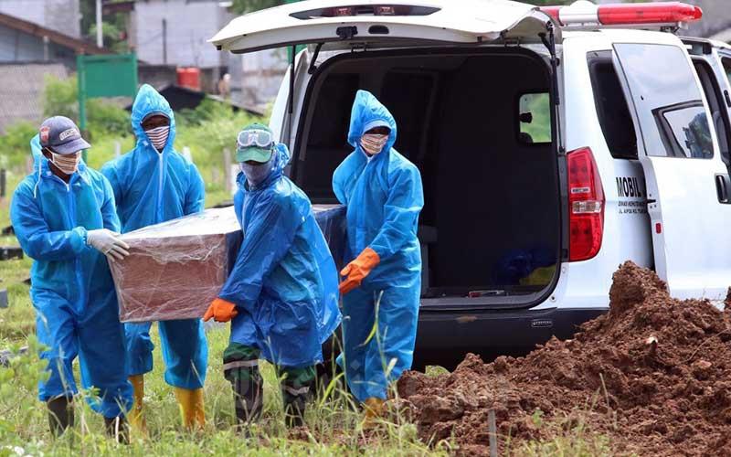 Pemakaman pasien Covid-19. Net