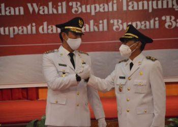 Fadhil dan wakilnya Bakhtiar resmi dilantik sebagai kepala daerah/Net