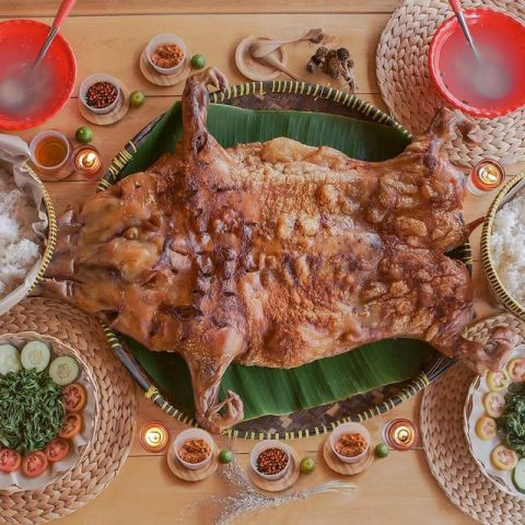 Bipang ambawang dibuat dari babi kampung muda. (Ist)