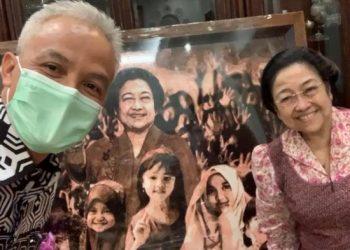 Ganjar dan Megawati. (Ist)