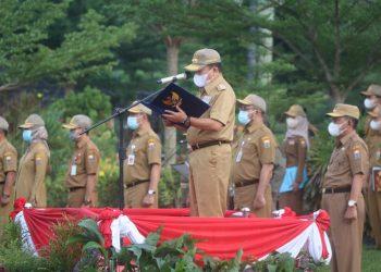Al Haris memimpin langsung apel peningkatan disiplin ASN