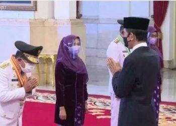 Haris dan Abdullah Sani usai dilantik Presiden Joko Widodo. (Istimewa)